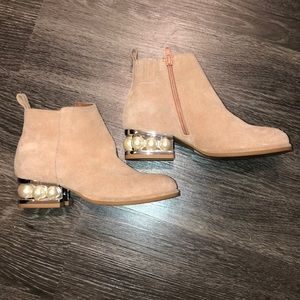 """Jeffrey Campbell """"Orlando"""" Pearl Booties size 5"""